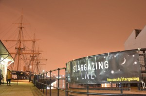 Last year's Stargazing LIVE event on HMS Warrior 1860. Image credit: Andreas Papadoupolous.