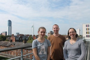2014 Nuffield Research Student, Matilda Smith-Cornwall on the ICG Balcony, with her ICG hosts, Tom Melvin and Karen Masters