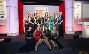 Karen Masters (back row, 3rd from left) with the other Women of the Future award winners