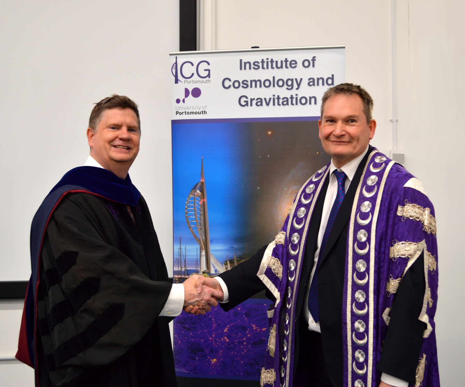 Professor Rob Crittenden with the University Vice-Chancellor, Professor Graham Galbraith