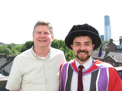Dr Dominic Galliano with Professor Rob Crittenden