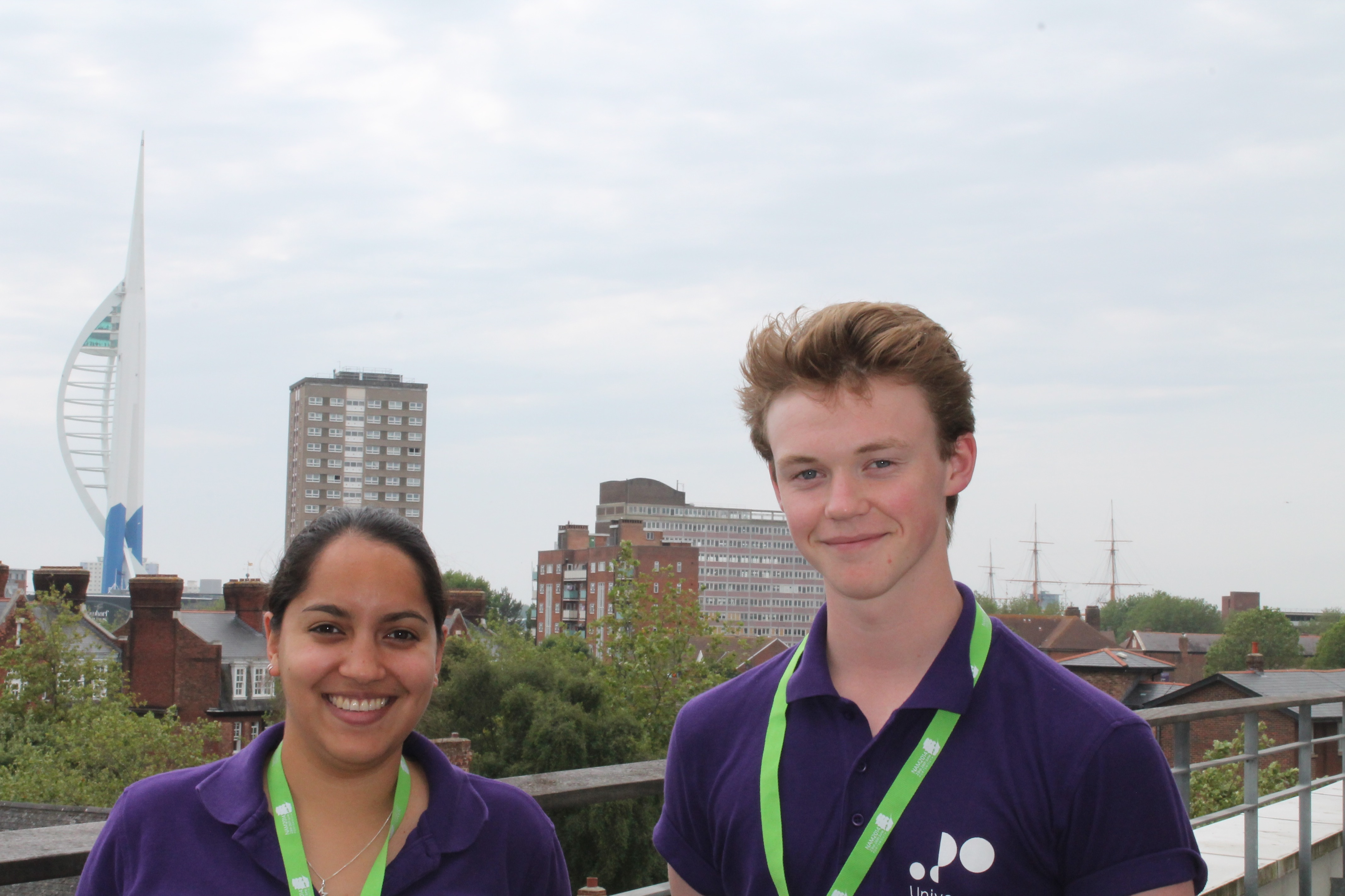 Work experience student Louis Forsyth with his supervisor, Dr Jen Gupta.