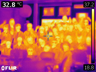 Gatcombe Park Primary School Year 5 pupils and teachers, with Professor Claudia Maraston and Dr Daniel Thomas, in infrared!