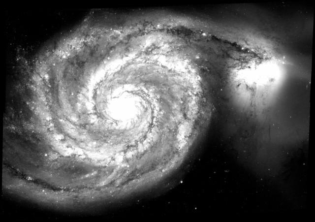 B-band image of the Whirlpool Galaxy. Credit: NASA/ESA
