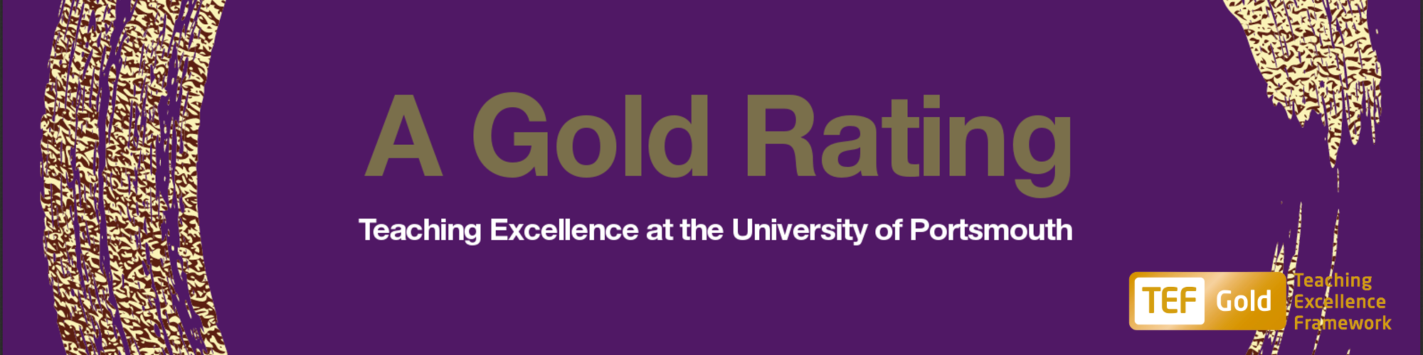 Gold rating for teaching excellence at the University of Portsmouth